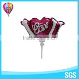 2016 new balloons with cup and stick for Valentine's day party decoration and toys to kids