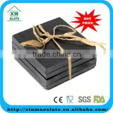[factory direct] hot sale wholesale black slate stone coaster with chalk natural slate coasters and placemats