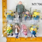 2014 New design and hot selling high quality Despicable me keychain minions toys