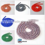 Multi color round glass beads for making jewerly crystal beads necklace