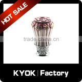 KYOK China wholesale custom home deco 16/19mm curtain rod accessories wrought iron curtain rod finials