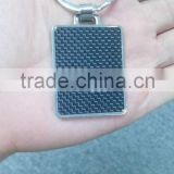 Japanese products carbon fiber keychain custom design Znic alloy metal keychains for promotion gift