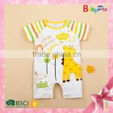 Top Selling Products 2015 China Manufacturer Wholesale Used Baby Clothes Cute Animal Baby Romper