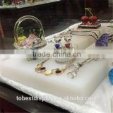 Customized size white acrylic cube, solid acrylic cube block jewelry display