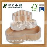 Trade assurance Natural Wood Breakfast Bread Dishes Plate Wooden Tea Serving Bed Tray Platter