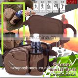 High Quality Multi-function Canvas Bottles & Cans Holster Cross Shoulder & Waist Messenger Bag
