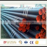 Manufactuer of API 5L ASTM A53 A106 carbon seamless steel pipe with black coating and caps for oil and gas