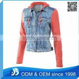 Custom Hoodie Jeans Jacket For Ladies