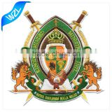 Customized Royal Embroidery badge patch, Cheap fashion iron on embroidered patches No Minimum