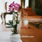 real touch decorative artificial blossom purple orchids flower with moss on limb