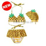JPSKIRT201508025 2015 Summer fruit pineapple Baby Girls Swimwear Cute Swimsuit Kids Bikini Child Swimsuit