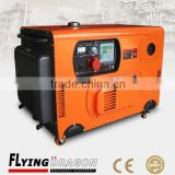 mobile soundproof air cooled diesel mini 4000w power generator for sale with 2 poles brusless alternator