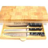 Custom Wooden Cutting Board Chopping Block with Drawer and Knives for Home Kitchen and Hotel Restaurant
