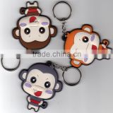 2015 Attractive Personalized Design Soft Custom Rubber Keychain For Festival Promotion Products