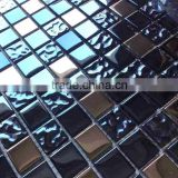 23mm Black and Brown Bathroom Kitchen Crystal Glass Mosaic Tile                                                                         Quality Choice