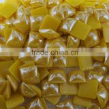 manufactory 6x6mm mustard color baking enamel beads for wedding dress