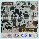 304 GT-011 Super Mirror Etching Stainless Steel Sheet for Elevator and Kitchen wall panels