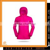 Professional Manufacturer Of Woman Zipper Fly Hooded Breathable Waterproof Windproof Sun-protective Jacket 20D Nylon