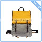 2015 Leather trim Backpack Canvas