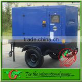 96Kw 3 phase generator trailer diesel generator AC three phase 380v R6105AZLD engine parts supplier 120Kva