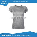 ERKE wholesale plain color blank moisture wicking quick dry lovers running top womens sports tee shirt