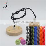 2*0.75 & 3*0.75 Round Twisted Braided Cable Cloth Covered Copper Wire Lighting Flexible Electric Cord VDE CE