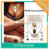 Body Jewelry Flash Waterproof Metallic Temporary Tattoo
