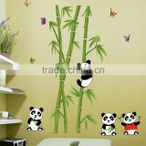 Hot sell wall stickers home decor panda bamboo background fashion Decoration living room sitting room wall stickers JM7281