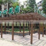 wooden garden pergola,wpc pergola,new design gazebo decking