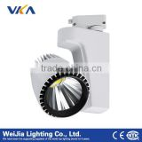2wires/3wires/4wires energy saving track led spotlight, cob chip tuning lighting