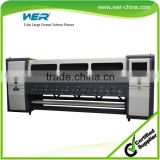 3.3m 4 color advertising printing machine in solvent ink jet printer with 4 Heads WER-SD3404 large format solvent printer