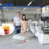 best selling 4 corner corrugated box folder gluer, french fries carton box forming machie