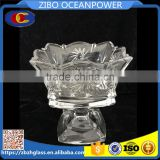 square clear fruit ice cream glass bowl candy jar
