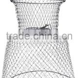 Collapsible wire mesh fish trap, foldable fishing tackle