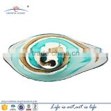 colored murano art glass wall plates for wall hanging