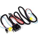 H4+H4 Headlight Black Heavy Duty Booster Wire Wiring Harness Sockets for Car Headlight