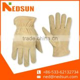 High quality cow split leather safety protective driver gloves