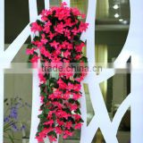 High Quality simulation artificial decorative violet flower vine plastic artificial flower vine