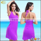 Ecoach super soft women's rayon summer beach wrap dress swim dress Backless Halter women cover up beach dress