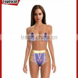 Wholesale neoprene crochet 2 pcs bikini triangle top swimwear