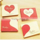 Wholesale loving heart invitation card paper wedding card for new year gift 2017