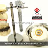 Luxury shavng set /shaving set for men / super badger shaving brush set with metal bowl