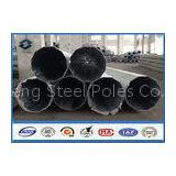 69kv Galvanized Steel Pole AWS D1.1 Welding , electric utility pole with Pole Top Cap / Butt Bearing
