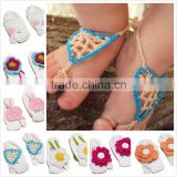 Birthday photo props infant baby knitted barefoot sandals wholesale M5040705
