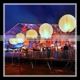 Party inflatable giant balloon tripod ball,outdoor christmas lighted balls,inflatable ball with led light for sale