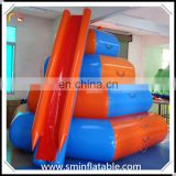 Manufacturer inflatable water toy with slide, floating water toy for funny water game for promotion entertainment event