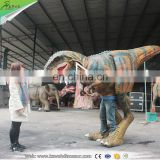 KAWAH Adult Realistic Walking with Dinosaur Realistic T Rex Costume for Sale