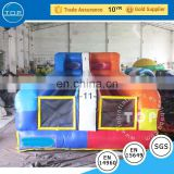Hot selling jumping bungee run interactive inflatable with high quality