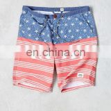 star and striped pattern hot selling board shorts men