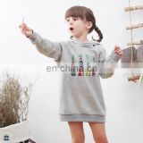 T-GH503 Sweatshirt with Ears Custom Design Embroidery Girls Longline Hoodies